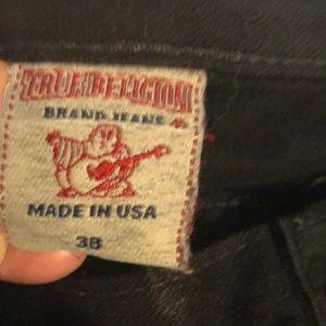 True Religion Black Jeans  waist 38  34 length Men